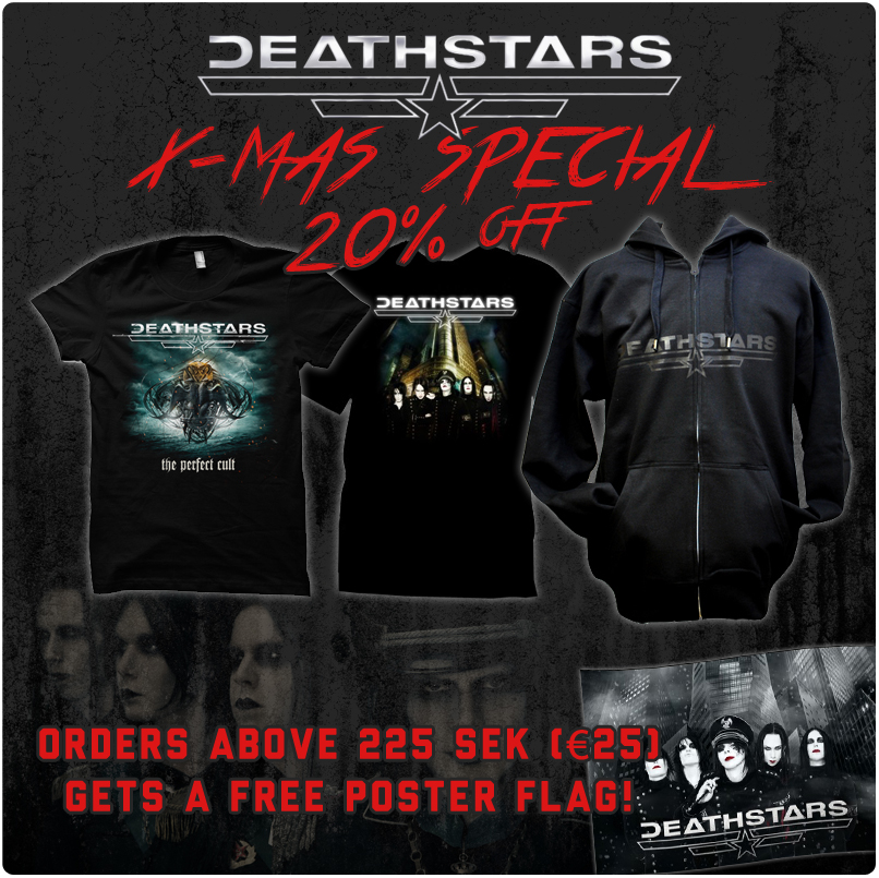 X-mas sale in the merch store